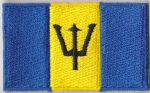 Barbados Embroidered Flag Patch, style 04.